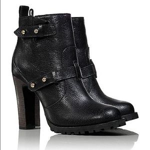Holiday Tory Burch Motorcycle Bootie size 7